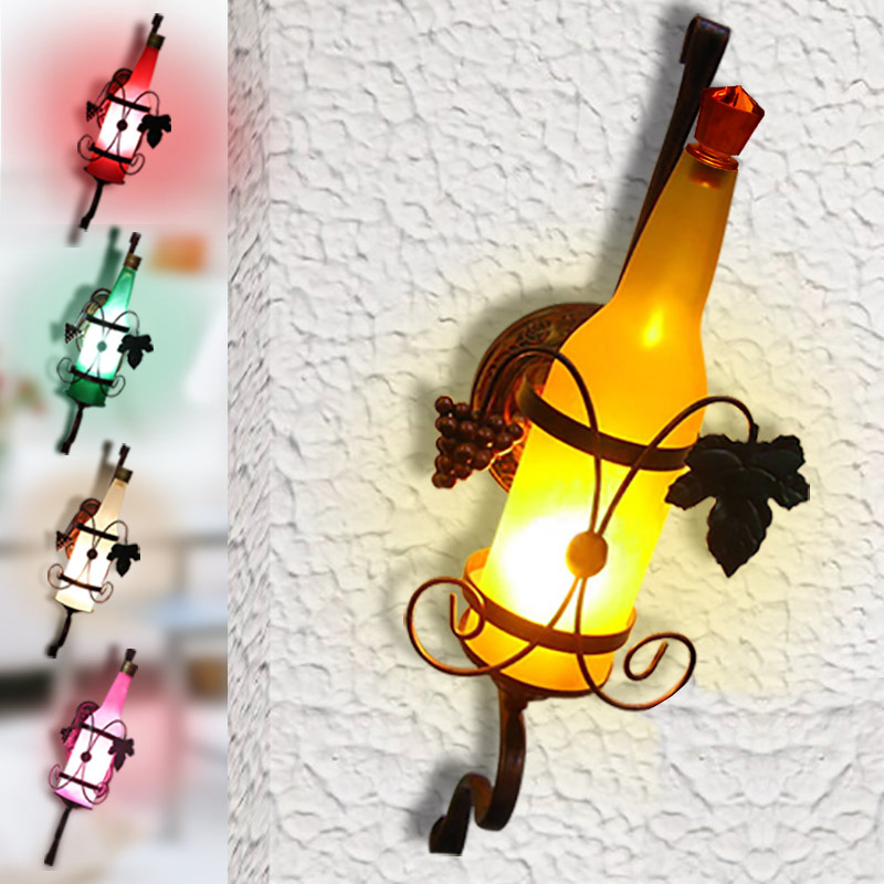 Vintage Loft LED Wall Lamps Lights Sconces for Home Vintage Wall Sconce decoration Bar Lamparas De Pared porch light iron modern led wall lamp fabric lampshade bedside light concise wall sconces fixtures for home lightings lamparas de pared