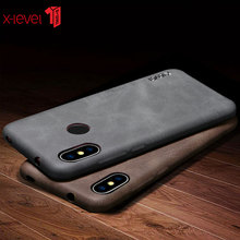 X-Level For Xiaomi Redmi 6 Case Original Vintage Cases Luxury PU Leather Ultra thin Pro Back Cover Coque
