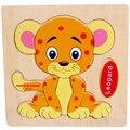 Presentes do bebê De Madeira Bonito Fox Puzzle Educacional Developmental Bebê Crianças Formação Toy Frete Grátis