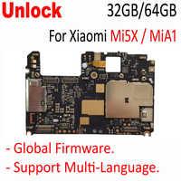 Original Unlocked Mainboard For Xiaomi Mi5x mi 5x m5x MiA1 Mi A1 motherboard board card fee chipsets parts