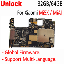 Original Unlocked Mainboard For Xiaomi Mi5x mi 5x m5x MiA1 Mi A1 motherboard board card fee chipsets parts