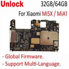 Originele Ontgrendeld Moederbord Voor Xiaomi Mi5x Mi 5x M5x MiA1 Mi A1 Moederbord Board Card Vergoeding Chipsets Onderdelen