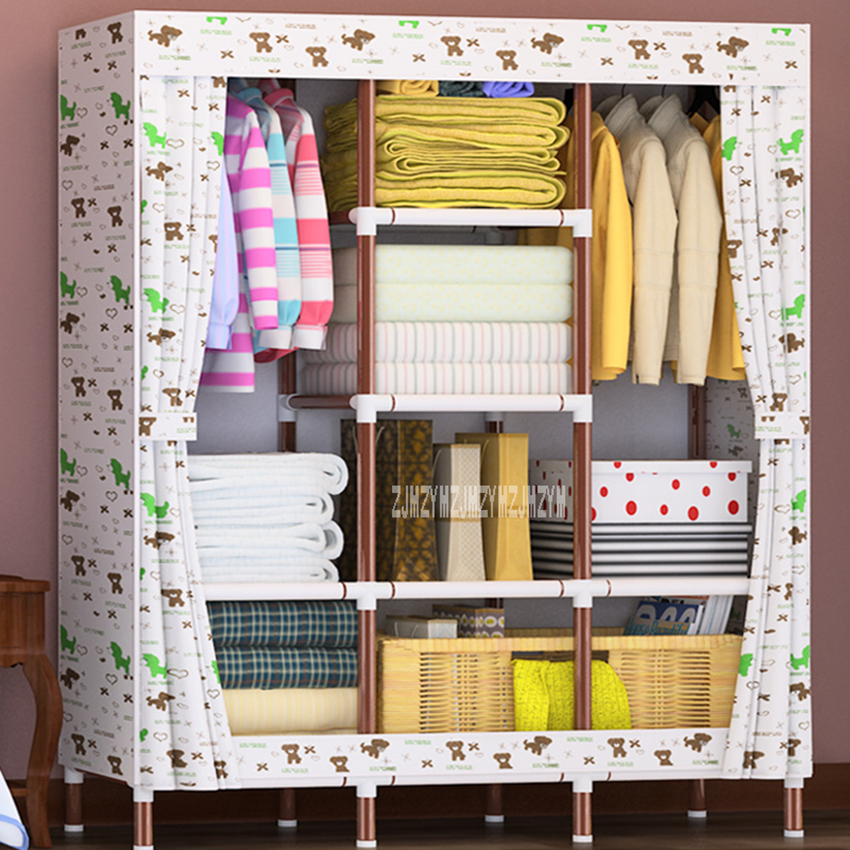 HR-39 Assembly 25mm Steel Pipe Oxford Cloth Closet Modern Wardrobe Thickened Storage Cabinet Large Capacity Cloth GarderobeHR-39 Assembly 25mm Steel Pipe Oxford Cloth Closet Modern Wardrobe Thickened Storage Cabinet Large Capacity Cloth Garderobe
