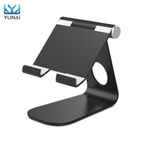 YUNAI Universal Metal Tablet Holder Stand For Phone Lazy Design For Ipad Holder Aluminum Tablet Stand