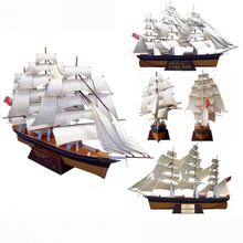 Diy Sailboat Paper Warship ship Model Toys Handmade creative show props decorate Collection Military Fans Gift