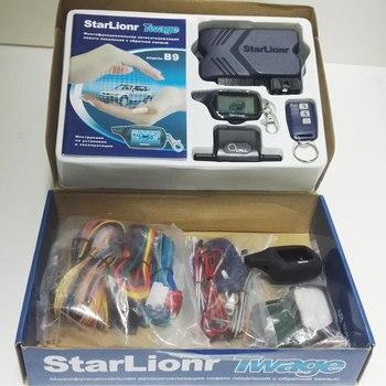 Starlionr B9 Russian Version 2 Way Car Alarm with Auto Start Remote Engine Start Two Way Car Alarm Auto Security System B9  1