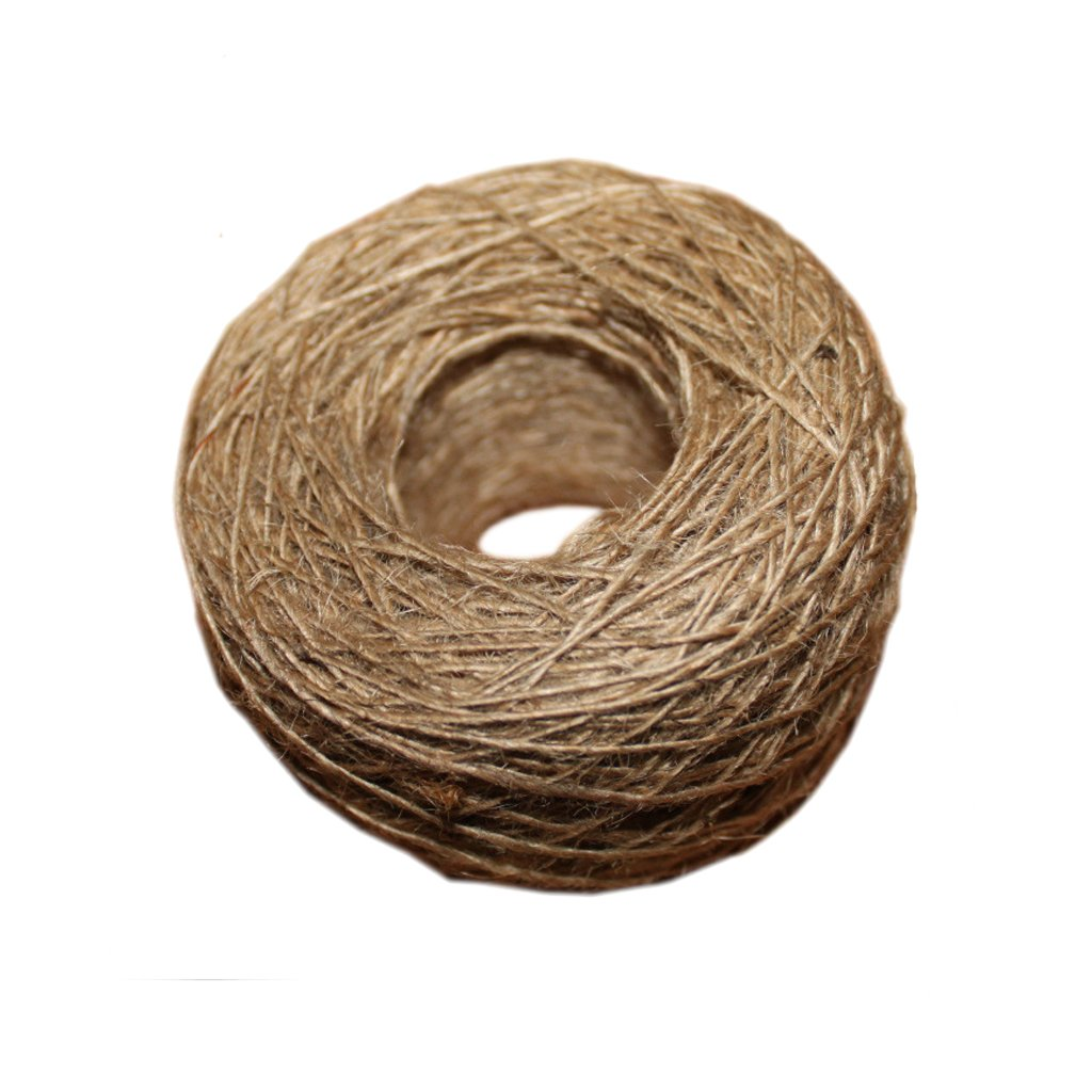 NEW natural jute rope 1mm Soft 100M Natural Textured Hessian Jute Twine Gift box String  ...
