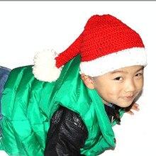 Милые детские Санта-Клаус Hat Ручной Трикотажные Толстые Теплые Шапочки Шапки Рождественский Подарок