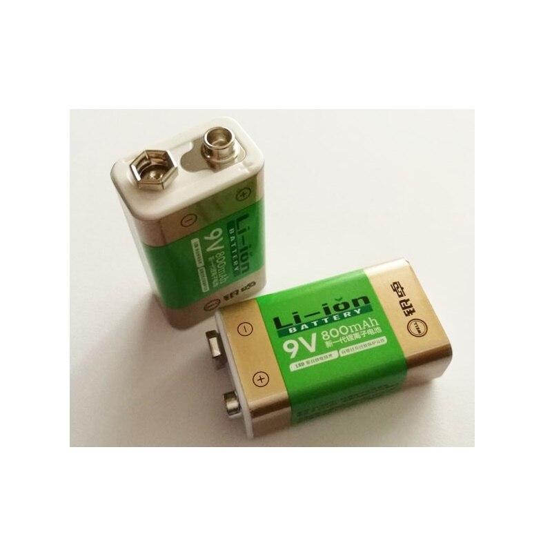 Hot Selling 2pcs Lot 800mah Li Ion 9 V Rechargeable