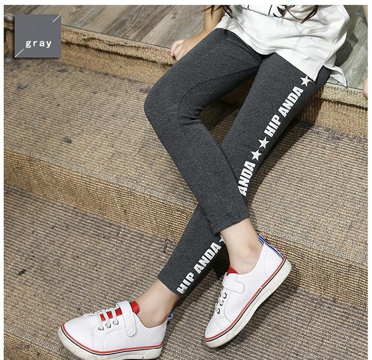 Spring Autumn Girls Leggings Letter Cotton Pants For Girls Sport Leggings Girls Clothing 6-13 Years KL-1516 цена и фото