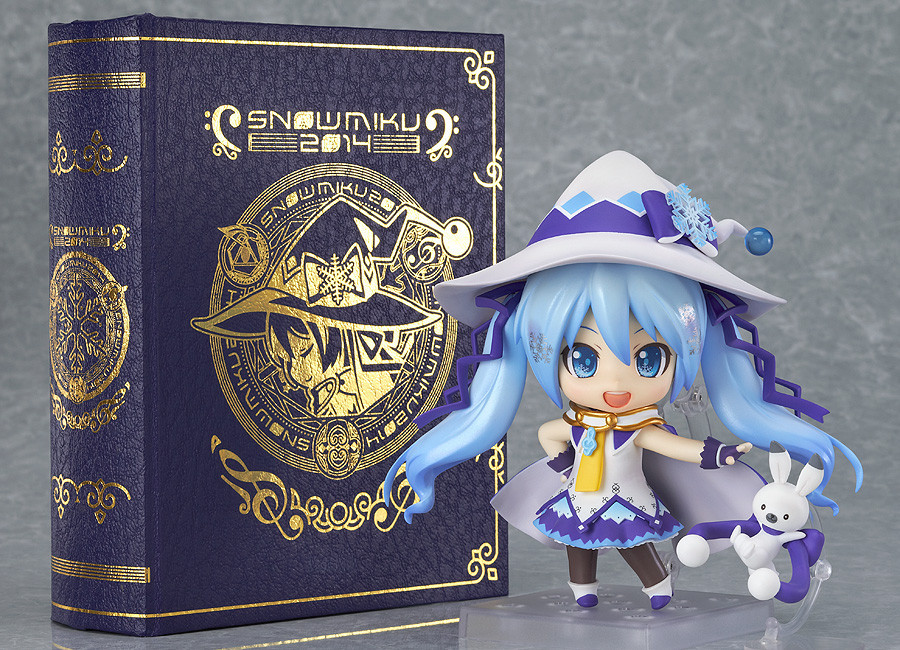 2014 NEW GSC Nendoroid Hatsune Miku Yuki Magical snow ver PVC Action Figure Colletion  Model Toy Doll