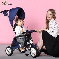 Nowy marka rowerek dziecięcy na trzech kółkach wysokiej jakości obrotowy fotel dziecko składany wózek sklepowy wózek na wózek spacerowy BMX dla dzieci samochód rower w Rower od Sport i rozrywka na