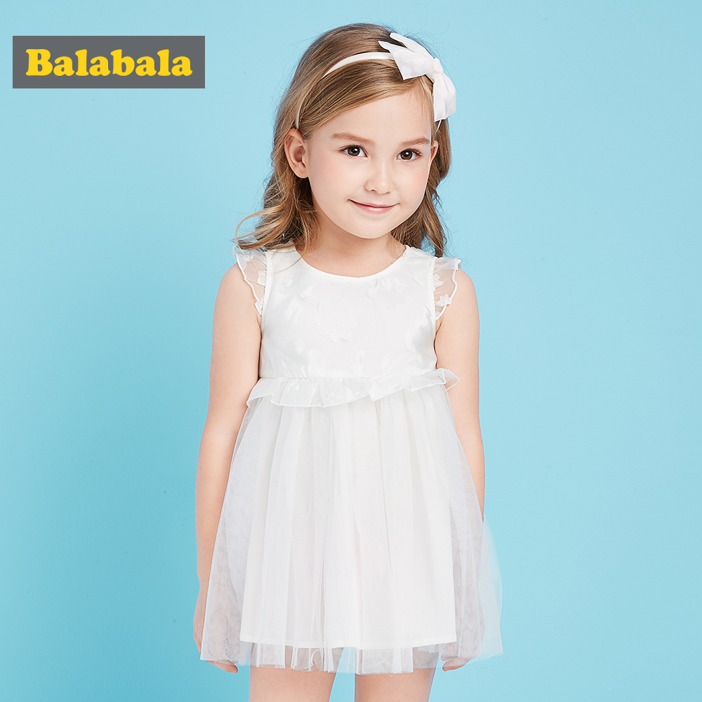 Balabala toddler girls princess dress Veil Dress for a girl summer kids clothing girls enfant Sleeveless Knee-Length dresses ems dhl free shipping toddler little girl s 2017 princess ruffles layers sleeveless lace dress summer style suspender