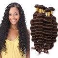 6A grado sin procesar de la onda profunda brasileña rizado armadura virginal del pelo 3 unids lote onda profunda brasileña vírgenes extensiones de cabello 3 paquetes