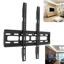 Universal 50KG TV Wall Mount Bracket Fixed Flat Panel Frame with Level Instrument for 26-65 Inch LCD LED Monitor