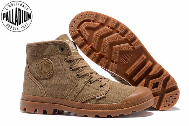 Bottines en PALLADIUM Pampa Hi Work pour hommes, baskets, chaussures de marche, qualité supérieure, décontracté toile, à lacets, tailles 39 à 45, décontracté
