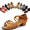 Favorite Women's/Children's Sandals Satin /PU Buckle Chunky 3cm Heel  Latin/Ballroom /Salsa Dance Shoes (more colors )