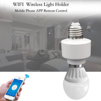 2019 New Wifi Smart Light Holder E27 WiFi Light Wireless Control Lamp Bulbs Holder Supports RF Receiver for Smart