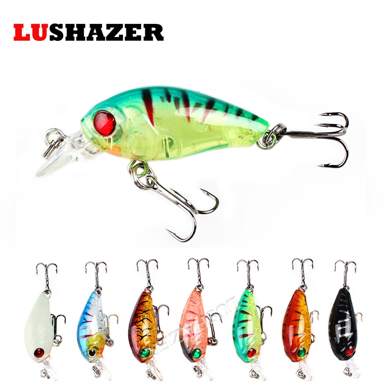 LUSHAZER Fishing lure minnow bait 4g 45mm carp fishing wobblers isca artificial crankbait fishing baits China fishing hard lure amlucas minnow fishing lure 110mm 9 5g crankbait wobblers artificial hard baits pesca carp fishing tackle peche we266