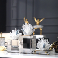 Роскошные украшения для дома аксессуары белый и синий коралл Spar статуя хрустальные ремесла орнамент творческие художественные фигурки