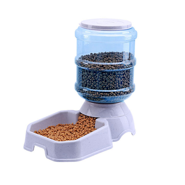 3.8L Pet Dog Cat Automatic Feeder Drinking Pet Food Water Bowl For Dog Automatic Drinkers Feeder Pet Dog Supplies Free Shipping 4