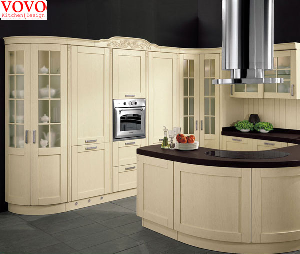 US $4500.0 |Curved kitchen cabinet doors-in Kitchen Cabinets from Home  Improvement on AliExpress