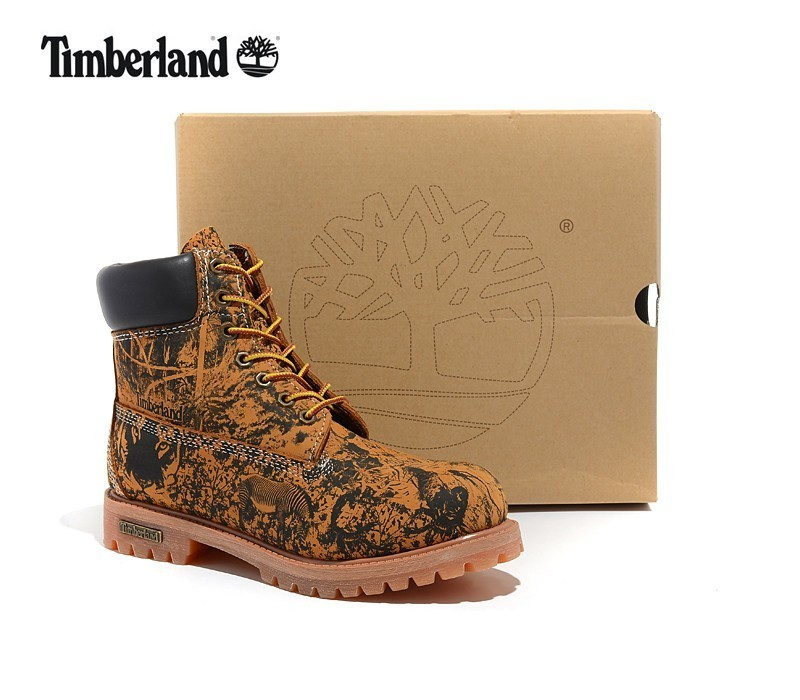 TIMBERLAND Animal Prints Camouflage Leopard Men Premium Ankle Martin Boots,Man Genuine Leather Timber Outdoor Casual Shoes 10082
