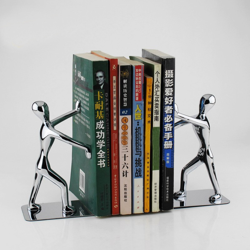 1pc Figure book home furniture book case home book stop standing bookend home decor studyroom arts decor bookshelf stationary