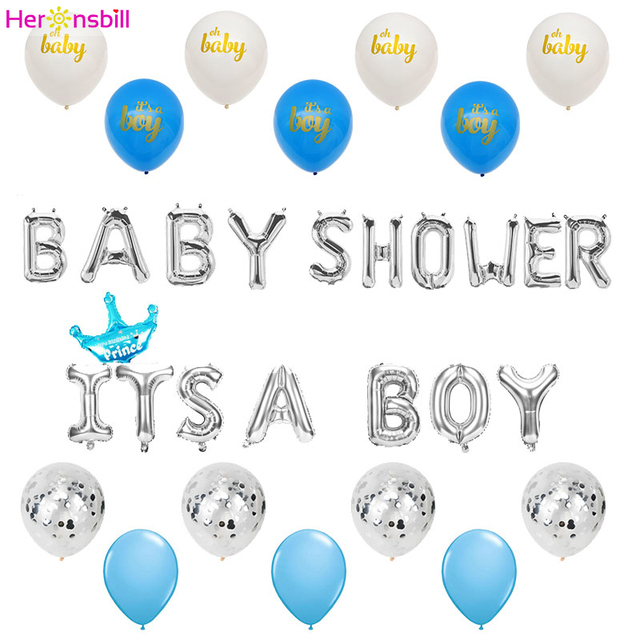 Aliexpress Buy Heronsbill Baby Shower Balloons Babyshower