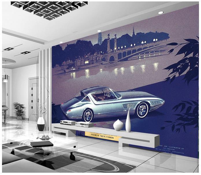 3d wallpaper 3d murals wallpaper for walls 3 d beauty Modern motor city river bridge city scenery livingroom wallpaper decor