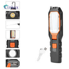COB LED Work Light Adjustable Inspection Lamp Magnetic Hand Torch USB Rechargeable Camping Lantern With Hook Magnet Pick Tools - DISCOUNT ITEM  46% OFF All Category