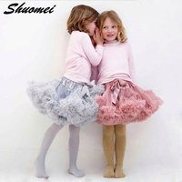 Free Shipping Baby Girls Chiffon Fluffy Pettiskirts Tutu Princess Party Skirts Ballet Dance Wear Kids Petticoat