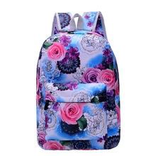 2017 Mode Femmes Sacs À Dos École Fleur Sacs Pour Adolescents Filles Épaule Sac Voyage Daily Bagpack Bolsas Mochilas Femininas