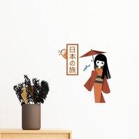 Traditional Japanese Culture Women Man Dress Sumo Japan Removable Wall Sticker Art Decals Mural DIY Wallpaper