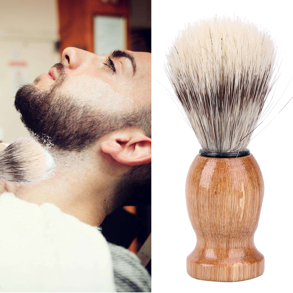 Badger Hair Men's Shaving Brush Barber Salon Facial Beard Cleaning Shave Tool Razor Brush Nylon and Badger hair Shaving Brush