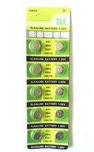 10PCS/Lot AG7 395 SR927SW 399 SR927W TR927W LR927 V395 SR57L SR57 610 613 Watch Toys Battery Button Coin Cell Alkaline Battery(China)