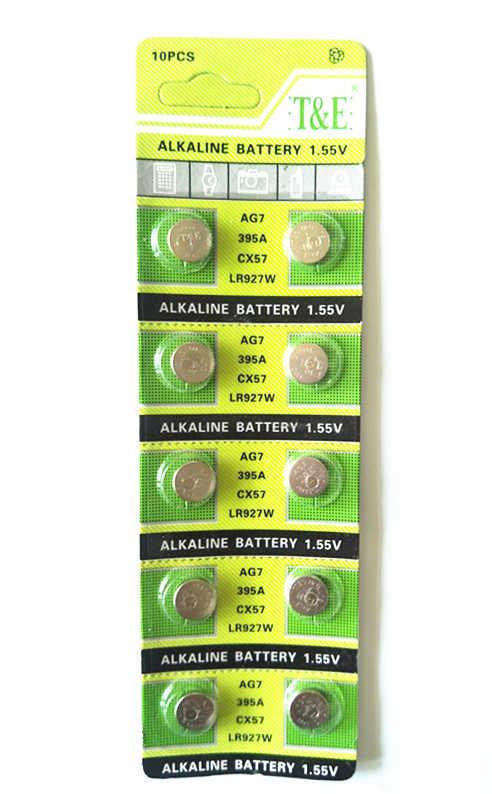 10PCS/Lot AG7 395 SR927SW 399 SR927W TR927W LR927 V395 SR57L SR57 610 613 Watch Toys Battery Button Coin Cell Alkaline Battery
