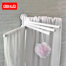 Suction cup Towel Holder Rotating Rack Bathroom Kitchen Plastic Hardware Accessory