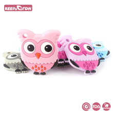 Keep&Grow 1pc Owl Silicone Baby Teethers Food Grade Silicone Cute Toddle Teether