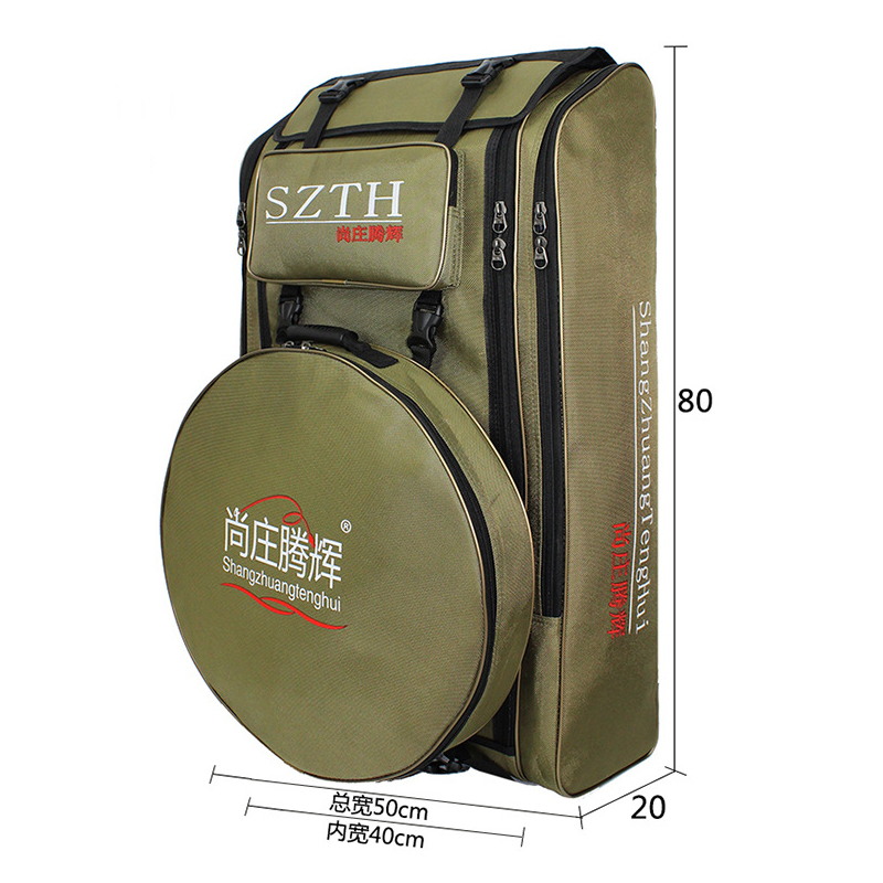 Image 2 - Large Capacity Fishing Bag waterproof Multifunctional Outdoor Tactical Backpack Trekking Sport Travel Camping Hiking Fishing Bag-in Fishing Bags from Sports & Entertainment