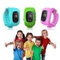 5 unids/lote q50 smart watch teléfono niños kid inteligente gps sos perseguidor anti-perdida reloj q50 dial llamada smartwatch para android