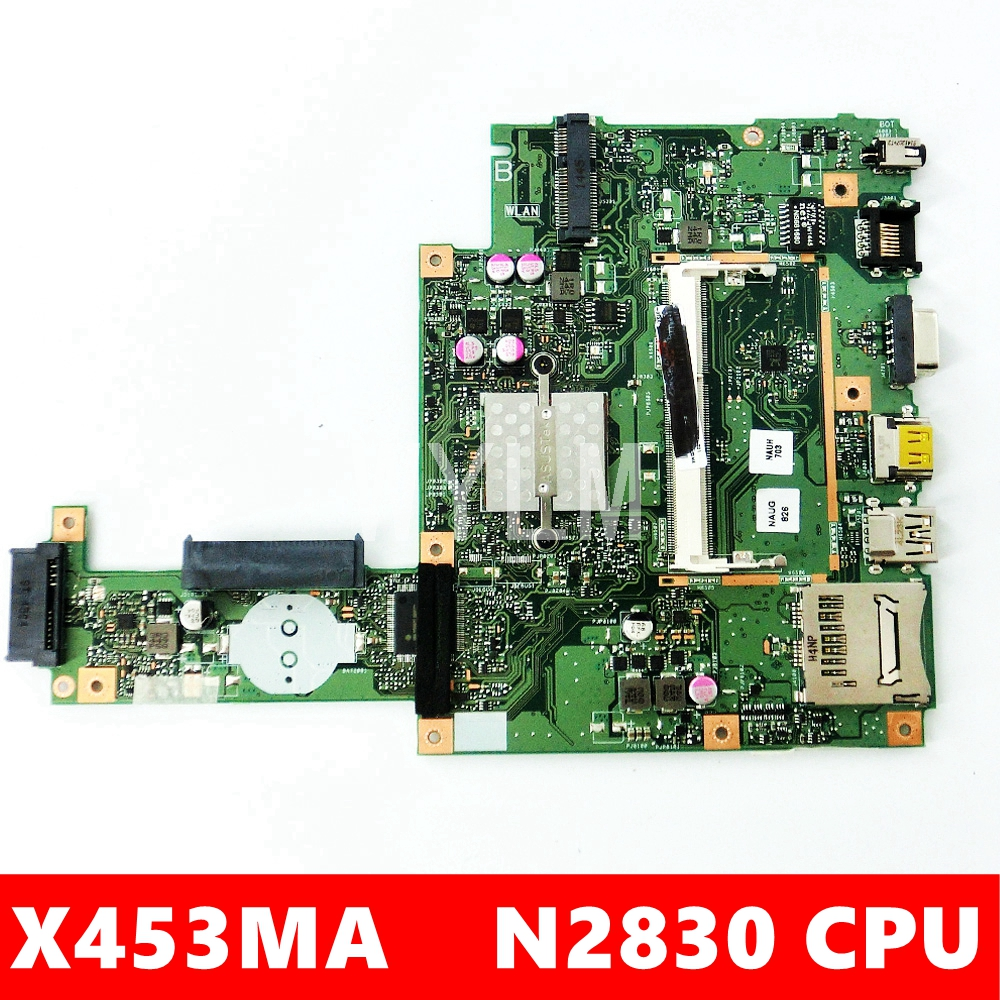 X453MA Avec N2830 CPU Carte Mère REV2.0 Pour ASUS X453MA X453M X453 X403M F453M Ordinateur Portable Carte Mère DDR3 100% Testé Fonctionne Bien