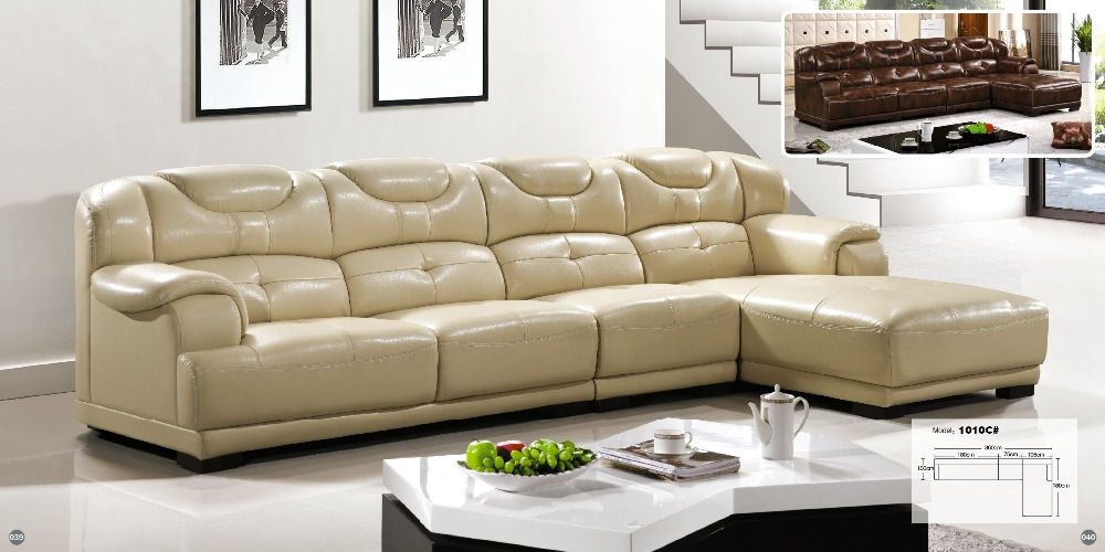 factory wholesale champagne l shaped corner sectional royal classical italian genuine leather sofa set with ottoman chair morden sofa leather corner sofa livingroom furniture corner sofa factory export wholesale c59