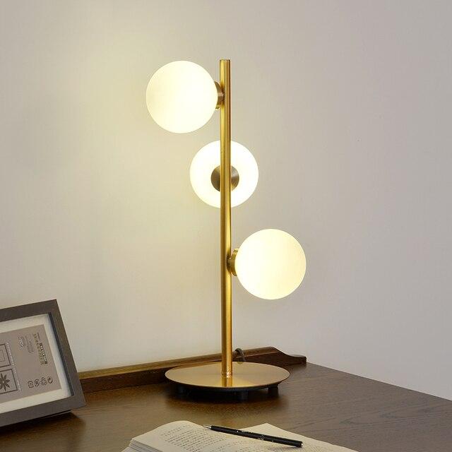 Nordic 3 heads table lamps creative vertical bedroom bedside table lamp  living room study desk lamps art lighing light ZA81811