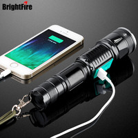 Newest Professional USB Rechargeable The Best Super Lighting 5 Modes CREE XML T6 LED Flashlight Zoomable