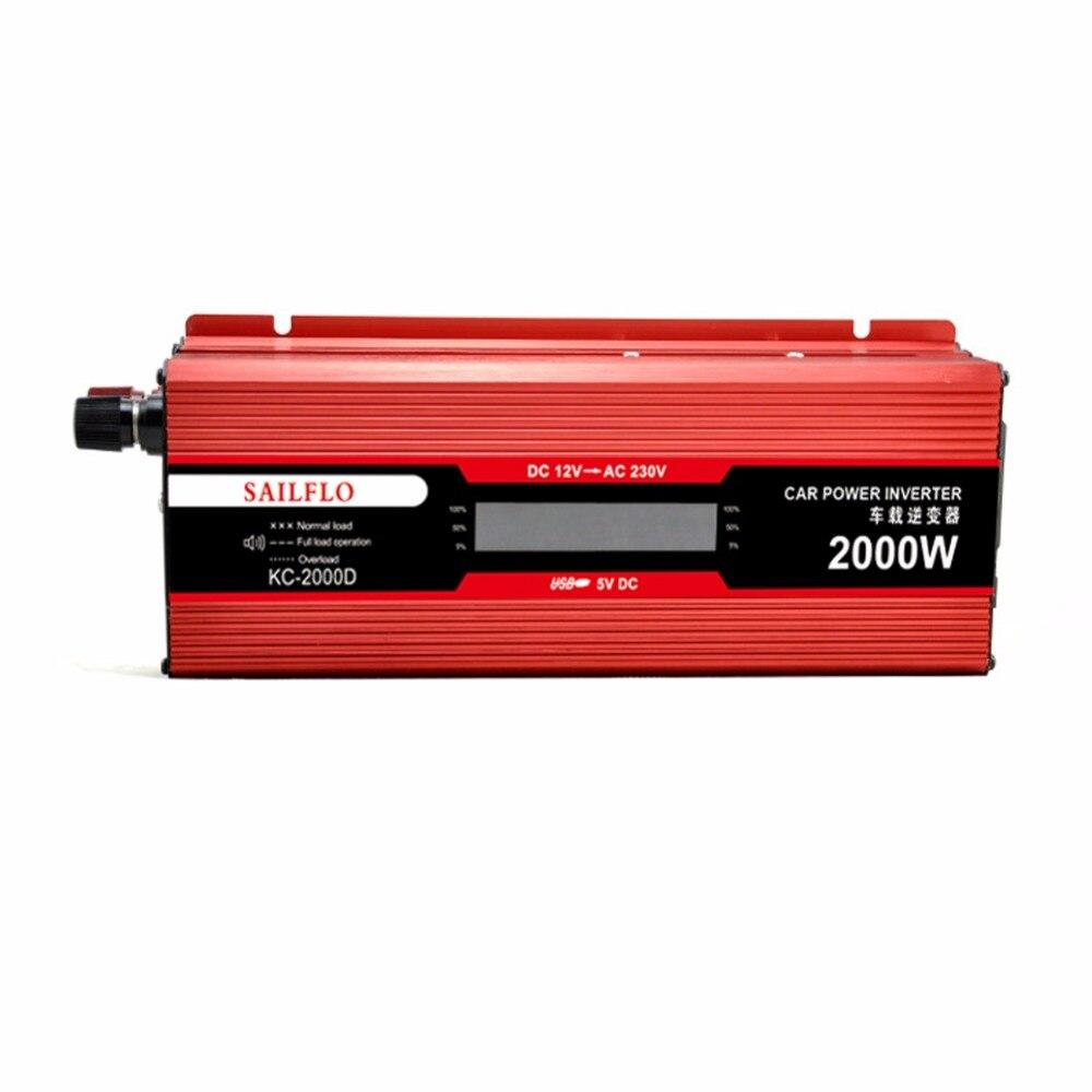 NEW LCD digital inverter 12v to 220v modified sine power inverter2000W peak power 4000W for home