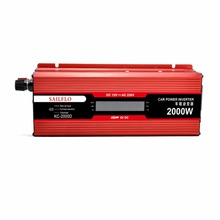 NEW!!! LCD digital inverter 12v to 220v modified sine power inverter2000W peak power 4000W for home outerdoor converter