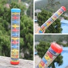 3 размера детские погремушки дождь звук игрушки/Orff музыкальный гаджет производитель дождя шейкер Дети Раннее развитие детей Обучающие Развивающие игрушки Колокольчик
