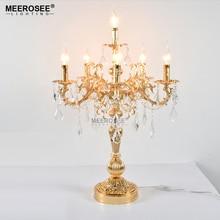 Luxurious Bronze Color  Crystal Table Light Desk Wedding Candelabra
