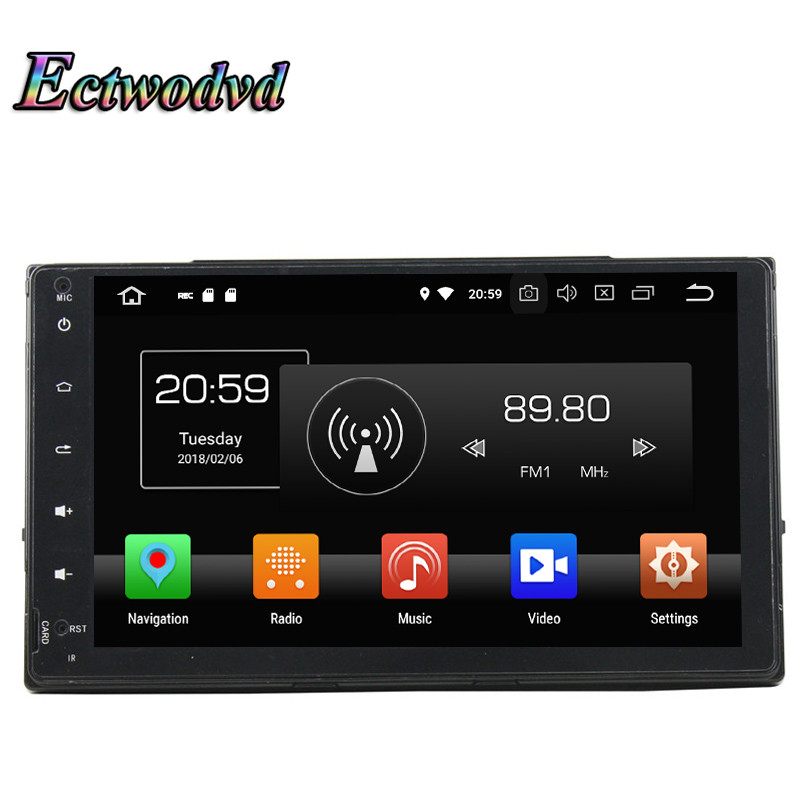 Ectwodvd Octa Core 4G Android 8.0Quad Core Android 8.1 Car Multimedia DVD Player for Toyota Corolla 2016 2017 Radio Tapes